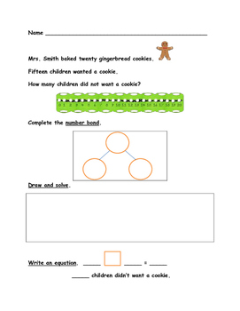 First Grade Math Word Problems - Christmas Theme - Use Multiple Strategies