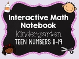 Interactive Math Notebooks - Kindergarten - Teen Numbers 11-19