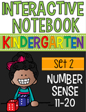 Interactive Math Notebooks Set 2:  Kindergarten Number Sense 11-20