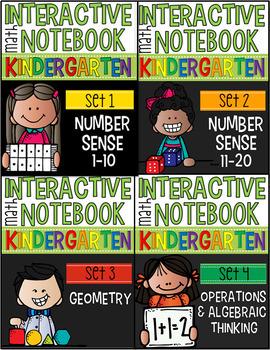 Interactive Math Notebooks for Kindergarten Sets 1-6 (Bundle)