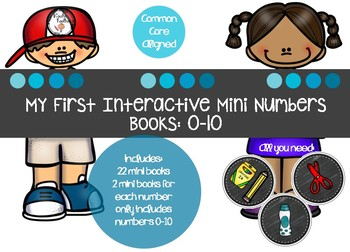 Interactive Math Number Books 0-10