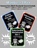 Interactive Math Quest 3-Pack Web-based Activity CCSS 3rd 4th Grade
