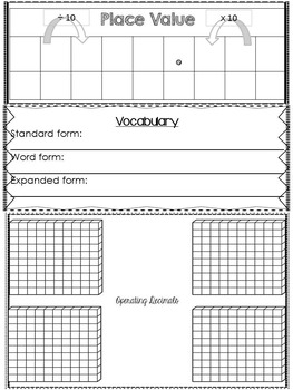 Interactive Math Reference Folder for Grade 5