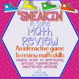 Interactive Math Review Game: 5th Grade Skills~ Sneakin in some Math Review