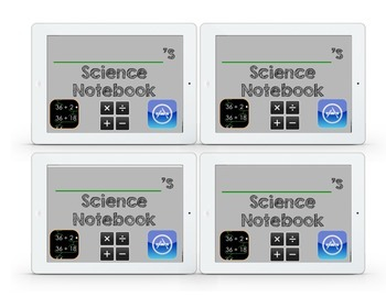 Interactive Math & Science Notebook iPad Labels