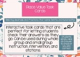 Interactive Math Task Cards - Converting Decimals and Fractions