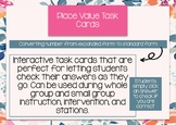 Interactive Math Task Cards - Expanded Form to Standard Form