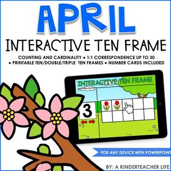 Interactive Ten Frame Math Games April by A Kinderteacher Life | TpT