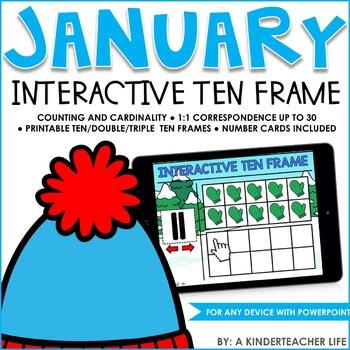 Interactive Math Ten Frame January