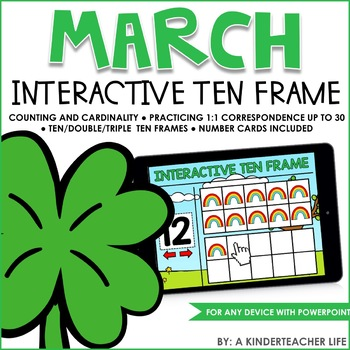 Interactive Ten Frame Math Games March