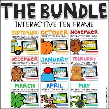 Interactive Ten Frame Math Games The Bundle by A Kinderteacher Life