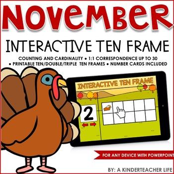 Interactive Math Ten Frame November