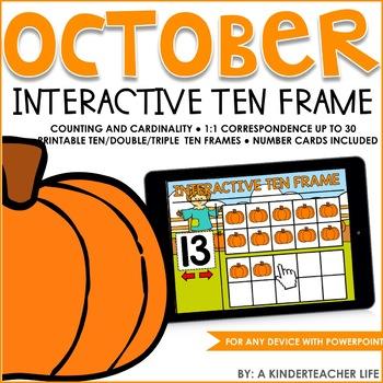 Interactive Math Ten Frame October