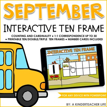 Interactive Math Ten Frame September