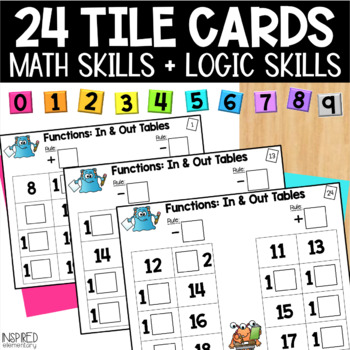 Math Tiles: Functions - In & Out Tables