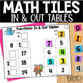 Math Tiles Functions In & Out Tables