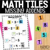 Math Tiles Missing Addends