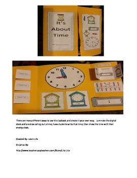 Time Lapbook and Elapsed Time Problem Solving Cards- Interactive