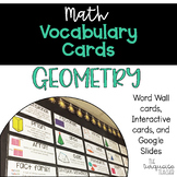 Interactive Math Word Wall Vocabulary Cards & Digital 2nd 3rd Grade: Geometry