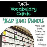 Interactive Math Word Wall Vocabulary Cards & Digital Card
