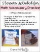 Interactive Math Vocabulary Practice: Editable Foldable Flipbook