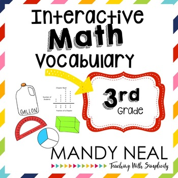 Interactive Math Vocabulary for 3rd Grade