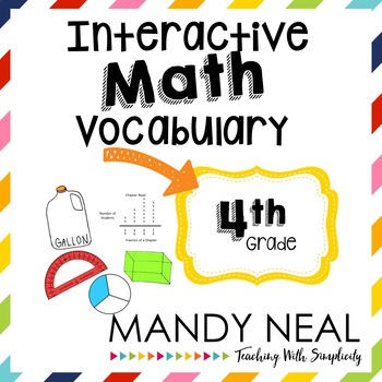 Interactive Math Vocabulary for 4th Grade