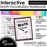 Interactive Math Vocabulary for 4th Grade