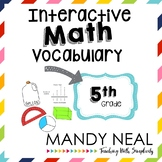 Interactive Math Vocabulary for 5th Grade