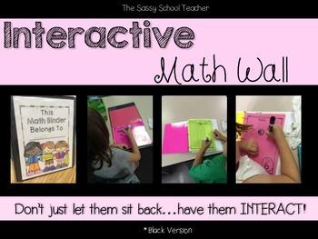 Interactive Math Wall (chalkboard black version)