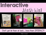 Interactive Math Wall (chalkboard black version)