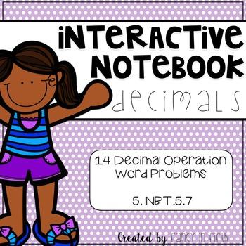 Decimal Word Problems: Interactive Notebook