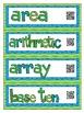 Interactive Math Word Wall - Grade 4