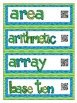 Interactive Math Word Wall - Grade 4