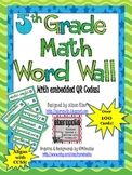 Interactive Math Word Wall - Grade 5