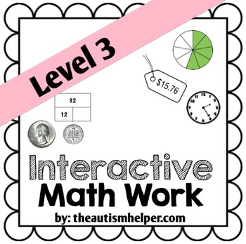 Interactive Math Work Book {Level 3}