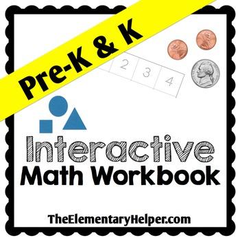 Interactive Math Workbook for Preschool and Kindergarten