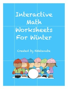 Interactive Math Worksheets for Winter
