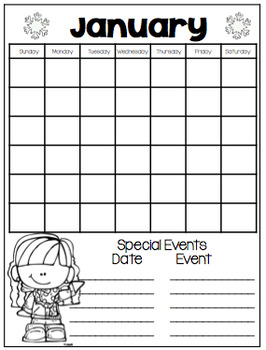 January Daily Calendar/Weather Activities... Math Review and Practice