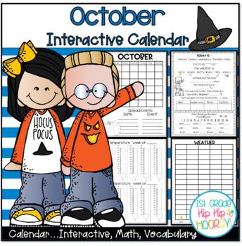 October Daily Calendar/Weather Activities ...  Math Review