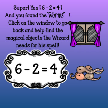 Interactive Math game-Google Slides/PDF-Subtraction Spooky Spells &Boiling Brews