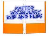 Interactive Matter Vocabulary study guide/word wall