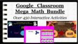 Interactive Mega Math Google Classroom Bundle 2nd Grade