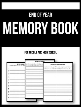 Interactive Memory Book Printable - End of Year Reflections