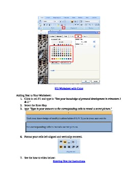 Interactive Microsoft Excel Game