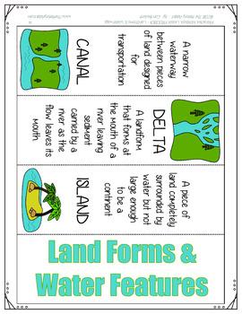 Interactive Notebook Geography Lesson FREEBIE ~ Landforms & Waterways