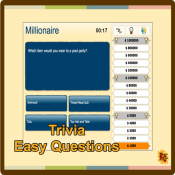 Millionaire Interactive Trivia Game (Easy)