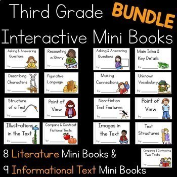 Interactive Mini Books Bundle {Third Grade}