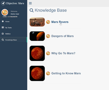 Interactive Mission To Mars Activity