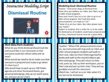 Interactive Modeling Script - Dismissal Routine